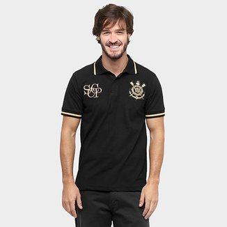 Camisa Polo Corinthians Ouro Masculina d72e782e57257