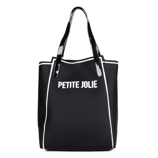 421a98a2e Bolsa Petite Jolie Shopper Verniz Estampada Gih Ruberp Feminina - Preto