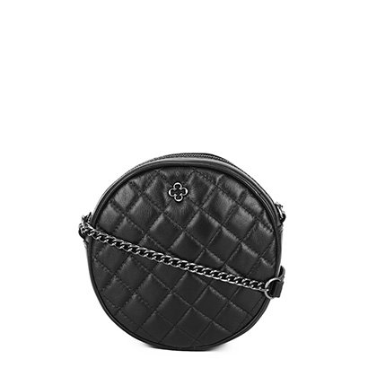 Bolsa Redonda Couro Capodarte Mini Bag Matelassê Feminina