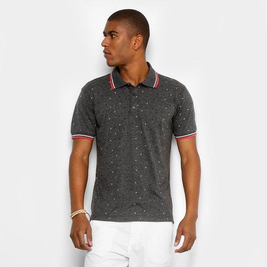 Camisa Polo Broken Rules Mini Print Geométrico Masculina - Chumbo ... 7fb4c8fc812f3