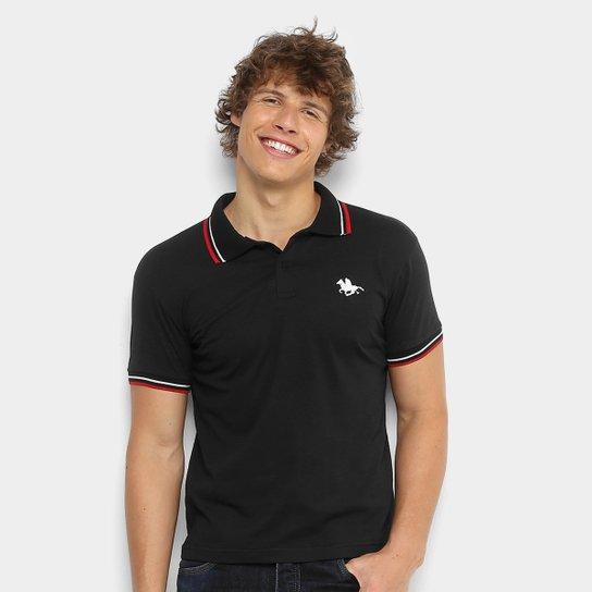 381484a1b Camisa Polo RG 518 Malha Friso Logo Masculina - Preto - Compre Agora ...