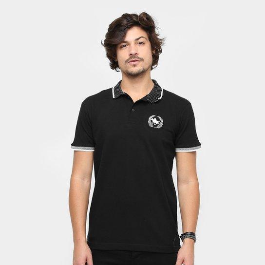 Camisa Polo Rg 518 Gola Poá Masculina - Preto - Compre Agora  71da6e6fabef3
