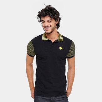 Camisa Polo RG 518 Piquet Gola Listrada Masculina de410a6d75ba3