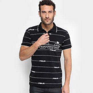 Camisa Polo em Piquet Estampada Polo RG 518 Manga Curta Masculina 35e4173667465