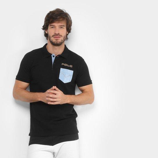 Camisa Polo RG 518 Piquet Bolso Jeans Masculina - Preto - Compre ... d375e41e9de4d