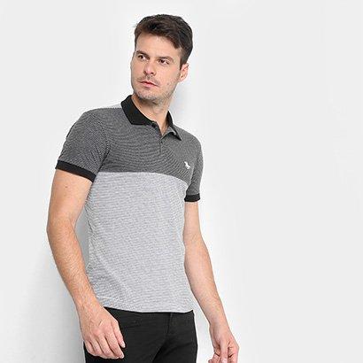 Camisa Polo Rg 518 Malha Listrada Bordada Masculina
