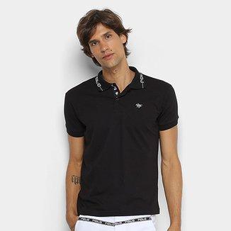 e682517a86a0f Camisa Polo Polo RG 518 Gola Estampada Masculina