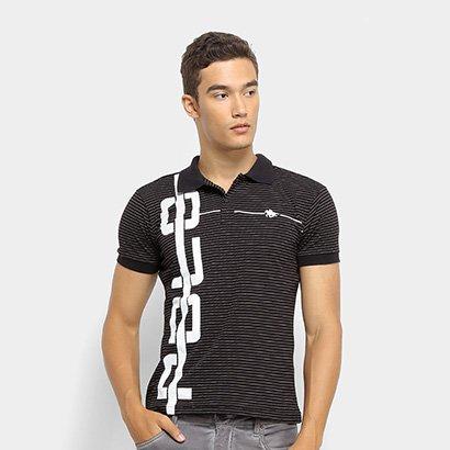 Camisa Polo RG 518 Listrada Malha Masculina