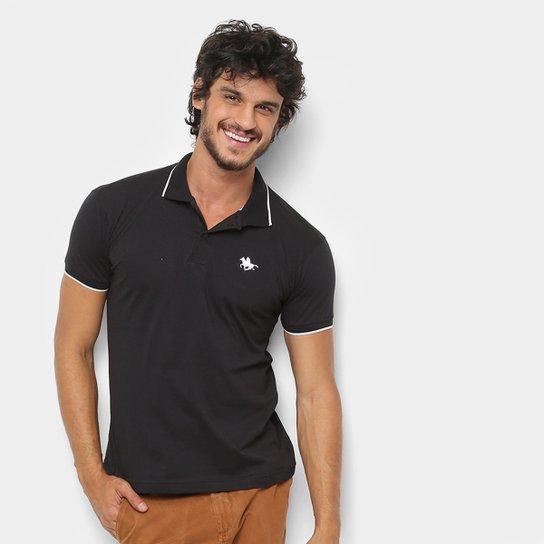 bb96d4110 Camisa Polo RG 518 Friso Logo Masculina - Preto - Compre Agora ...