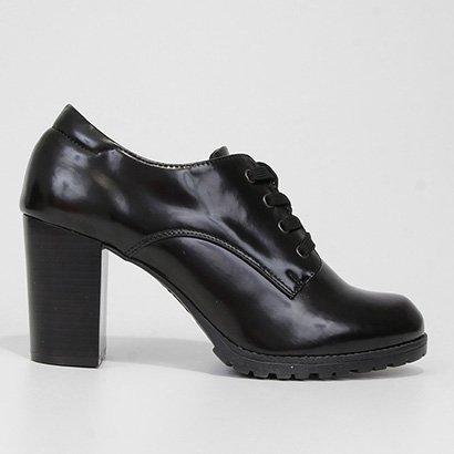 Ankle Boot Mooncity Tratorada Verniz Feminina