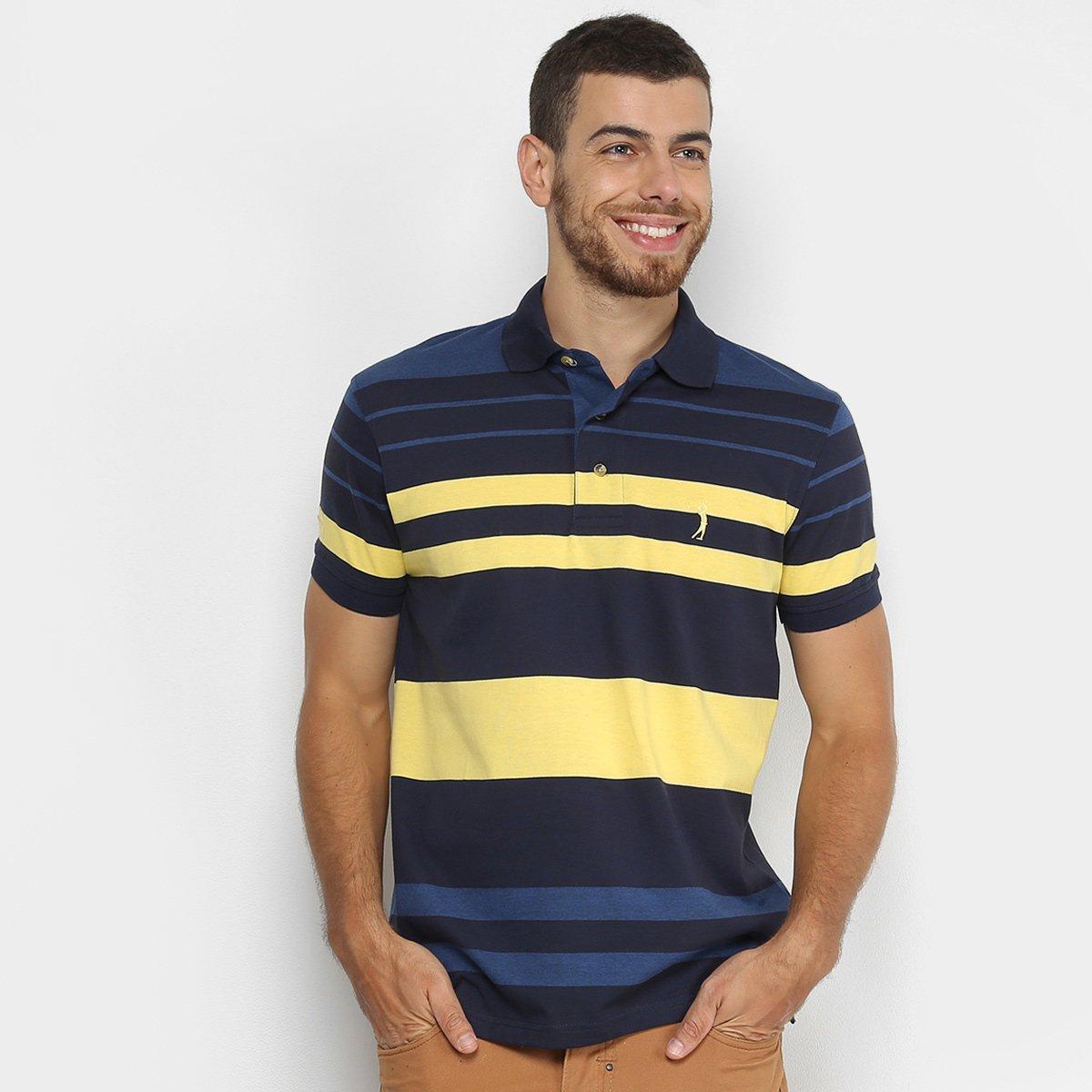 Camisa Polo Aleatory Fio Tinto Listras Masculina 7f2d49cb7d3f0