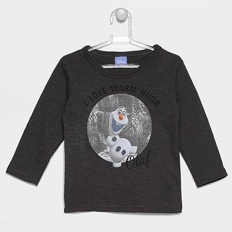 c45e84405a4 Camiseta Brandili Disney Frozen Olaf Infantil