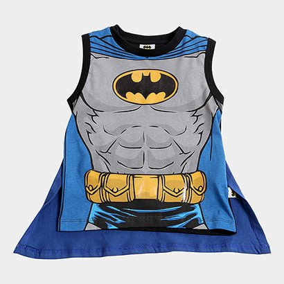 Regata Infantil Fakini Batman Capa Masculina