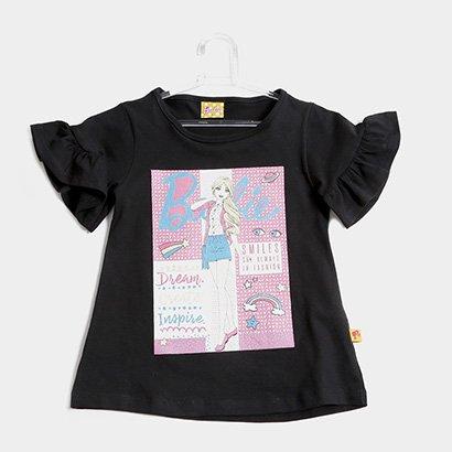 Blusa Infantil Fakini Barbie Feminina