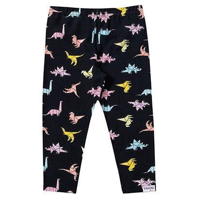 Calça Legging Infantil Fakini Estampa Floral Feminina