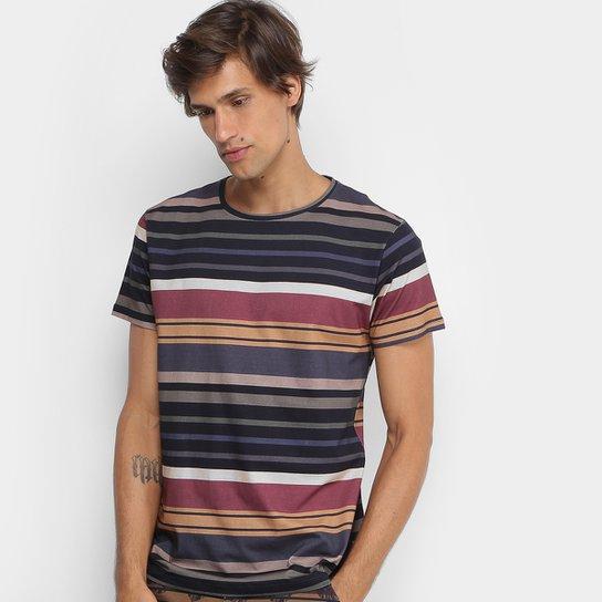 Camiseta Foxton Listrada Masculina - Preto - Compre Agora  8a83a80fa85