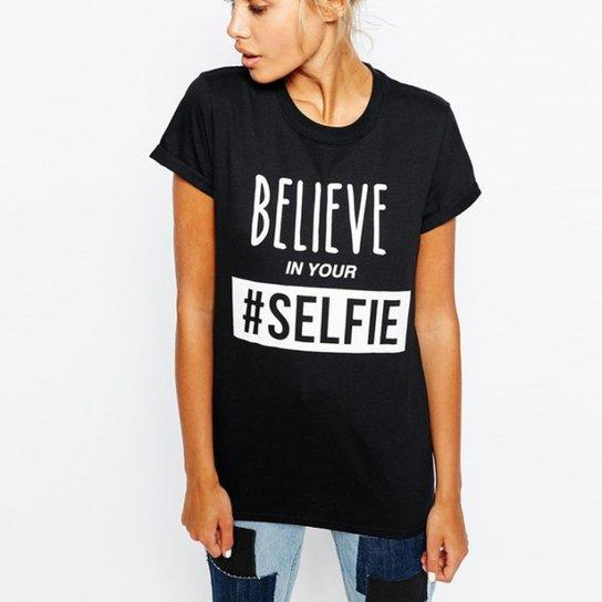 04324401ab Camiseta Criativa Urbana Frases Engraçadas Selfie Nerd Geek - Preto ...