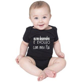 63f07ed5b Body Bebe Frases Engraçadas Evoluo com Papai Pai Criativa Urbana