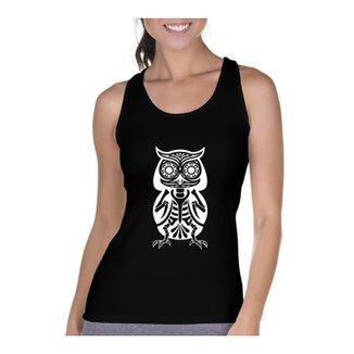 Camiseta Regata Criativa Urbana Cavada Coruja Esquelética d5f056076ae3d