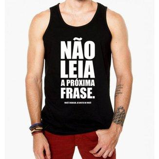 268b4a084b Camiseta Regata Criativa Urbana Frases Engraçadas Não Leia