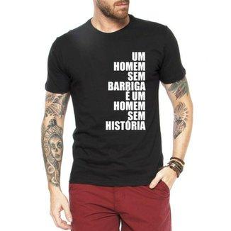 2769fe6a3 Camiseta Criativa Urbana Sem Barriga É Sem História