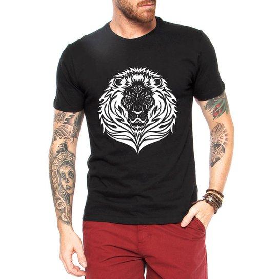Camiseta Criativa Urbana Leão Tattoo - Preto - Compre Agora  a089f79624a2e