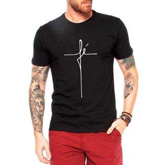 a12b775ada Camiseta Criativa Urbana Fé Religiosa Masculina