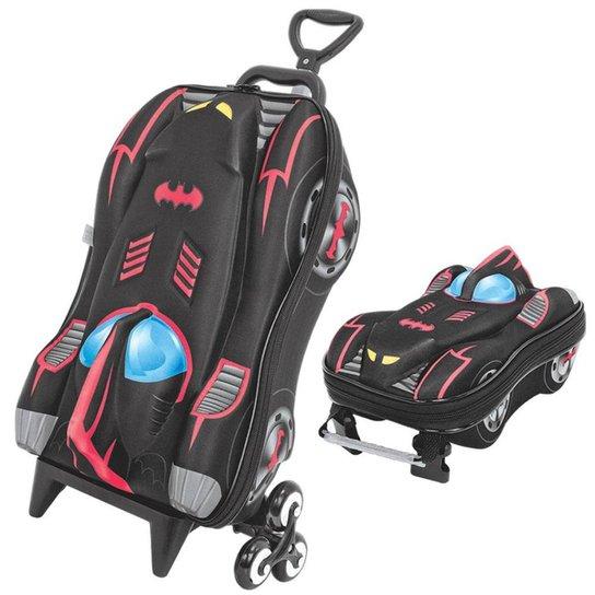 26007b23d3 Mochila Escolar 3D com Lancheira MaxToy Batman - Preto - Compre ...