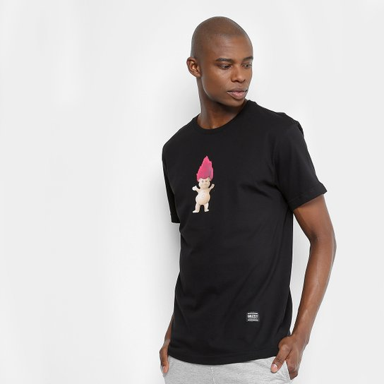 Camiseta Grizzly Troll Og Bear SS Tee Masculina - Preto - Compre ... 0a788894fa7