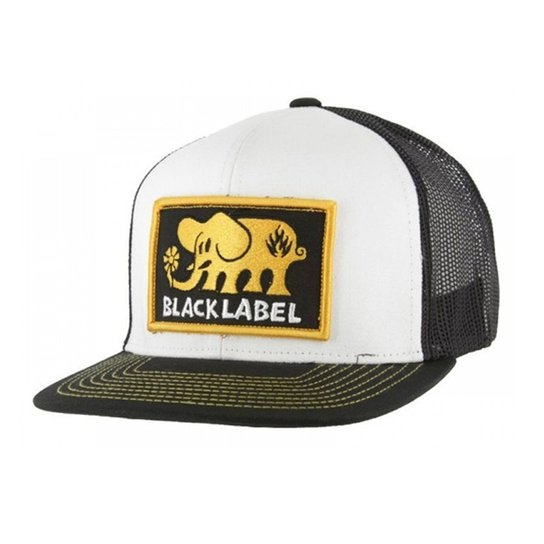Boné Black Label Elephant Patch Trucker Black White - Compre Agora ... d91a5a3b1de
