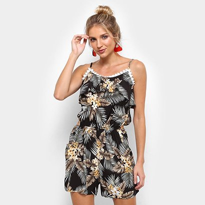 54fe7ebd5 Macaquinho Lily Fashion Aberto na Cintura Feminino
