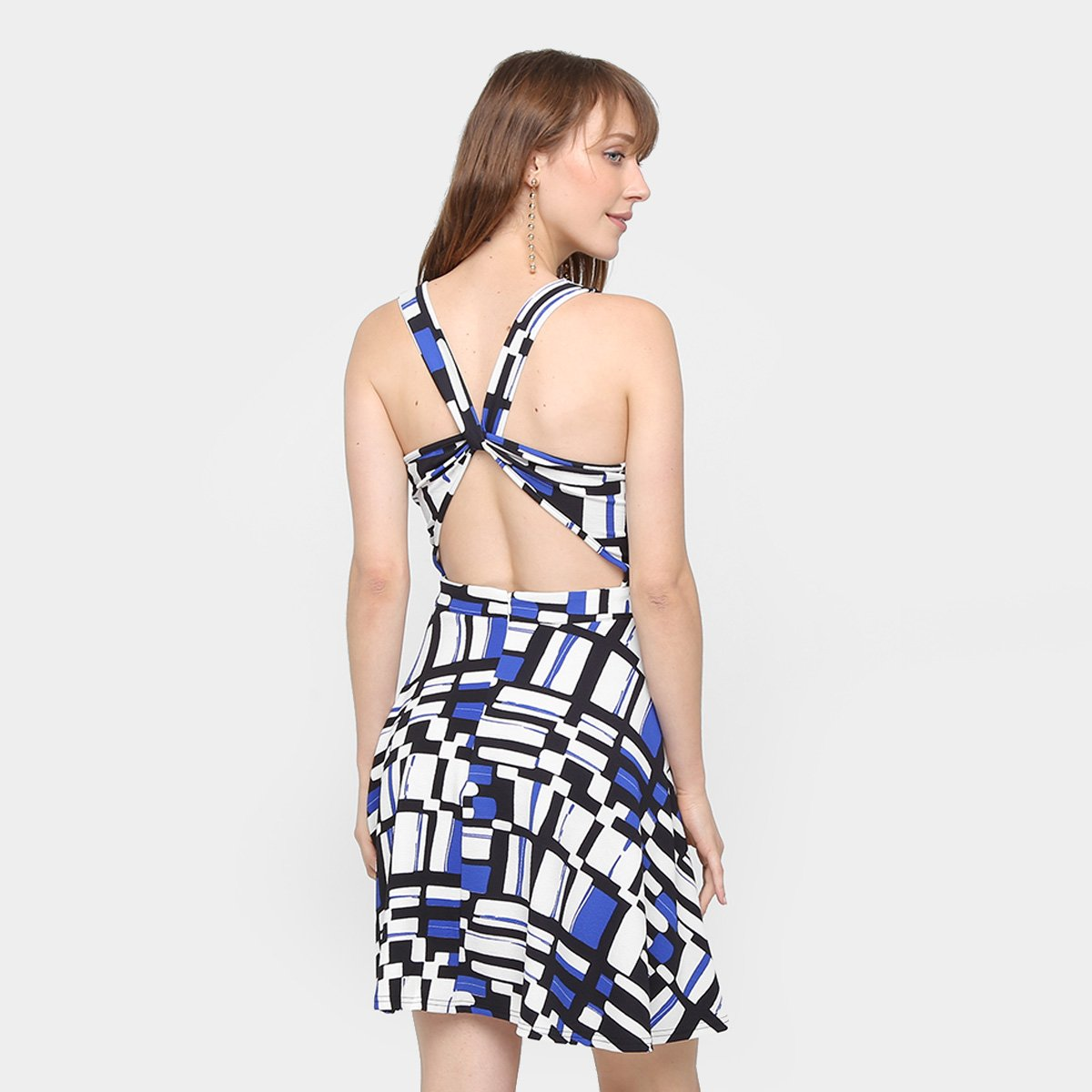 5d4477c70 ... Foto 2 - Vestido Top Moda Evasê Curto Estampado Feminino