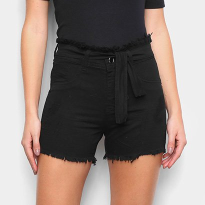 Short Coffee Desfiado Feminino