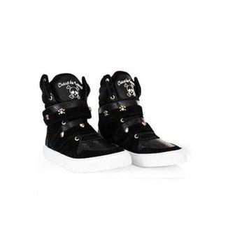 d8b9a5fec9f Tênis Sneaker Feminino em Couro Bota Treino Cheia de Marra