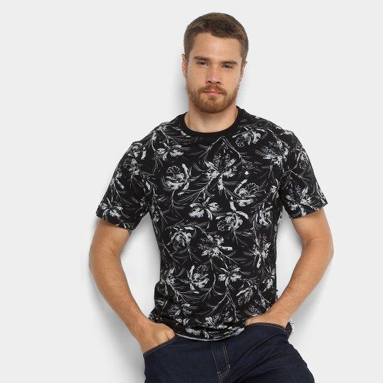 Camiseta MCD Especial Full Wild Flower Masculina - Preto - Compre ... 9eede591118