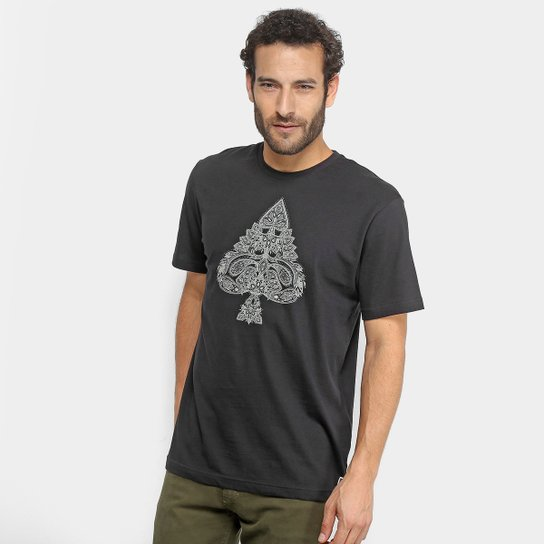 b15a1597a3865 Camiseta MCD Paisley Masculina - Preto - Compre Agora