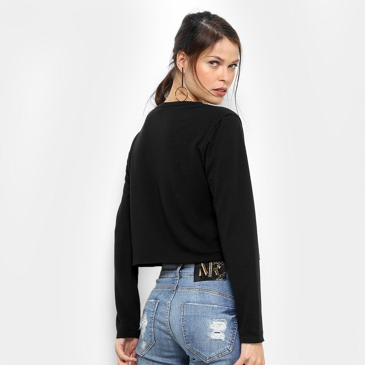 a67353983 ... Foto 2 - Malha Dimy Top Cropped Silk Recorte Feminina