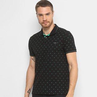 e58fe7bdae Camisa Polo Dimy Mini Print Masculina