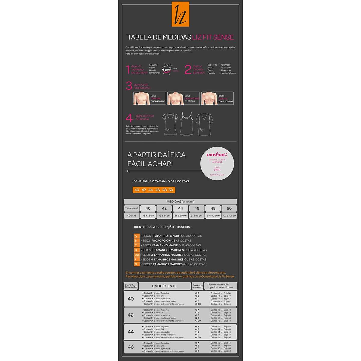 Sutiã Firmador Liz Tato-51247 - Tam: 50B - 2