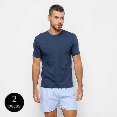 Conjunto de Pijama Duomo 2 Peças Liso Masculino