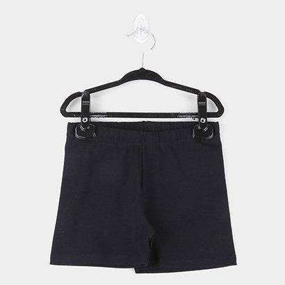 Shorts Infantil Kyly Cotton Básico Liso Feminino