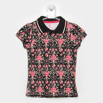 Camisa Polo Infantil Lilica Ripilica Estampada Feminina