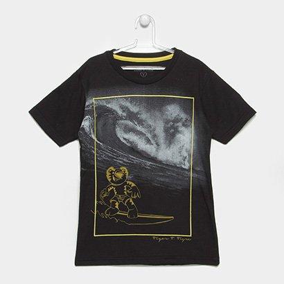 Camiseta Infantil Tigor T. Tigre Surf Masculina