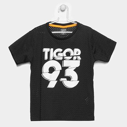 Camiseta Infantil Tigor T. Tigre Tela Masculina