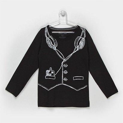 Camiseta Infantil Tigor T. Tigre Botões Masculina