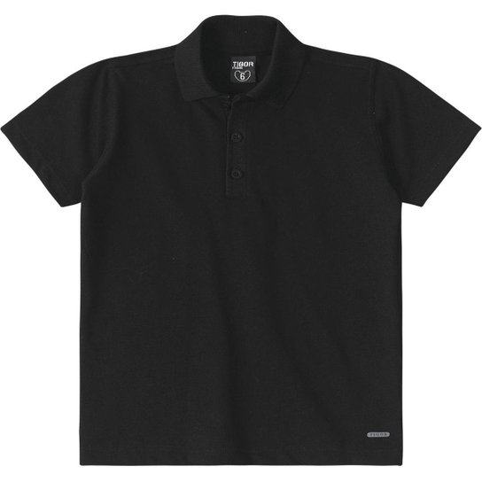 fa1198545a Camisa Polo Infantil Tigor T. Tigre Masculino - Preto - Compre Agora ...