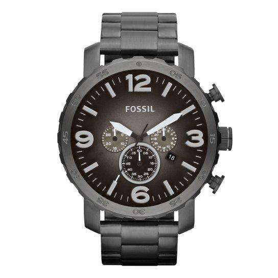 Relógio Fossil Nate Analógico - Preto - Compre Agora   Netshoes 3b12c6bb41