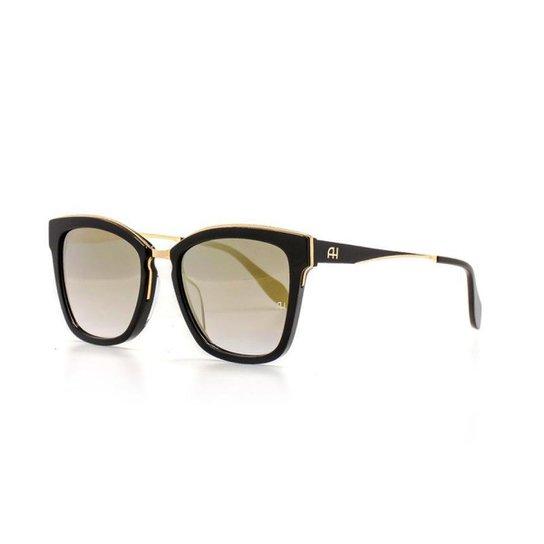 1655c0d42 Óculos de Sol Ana Hickmann Gatinho Proteção UV Feminino - Preto ...
