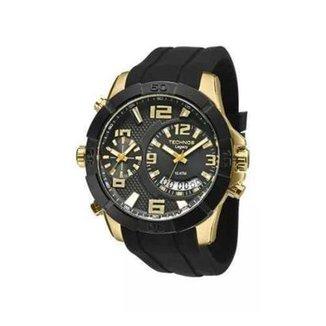 fa3cbfbf7c37c Relógio Technos Legacy Dual Time T205FJ 8P 52mm Silicone