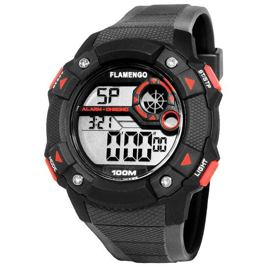 Relógio Technos Flamengo Digital II - Preto - Compre Agora   Netshoes b6fba63509